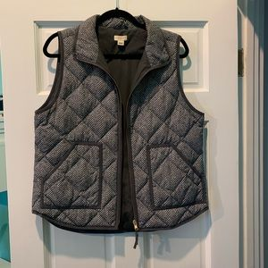 J. Crew grey and white puffer vest